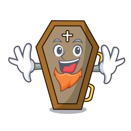 Elf coffin character cartoon style