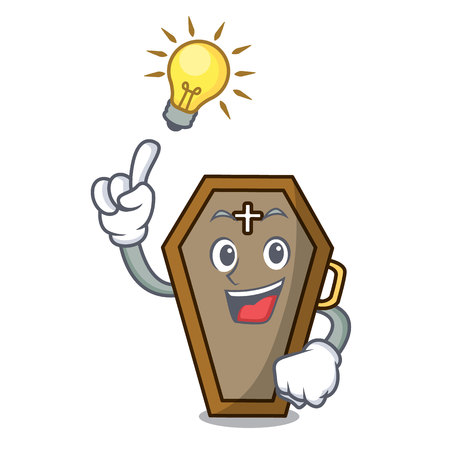Have an idea coffin mascot cartoon style Ilustracja