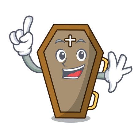 Finger coffin mascot cartoon style Stock fotó - 104124373