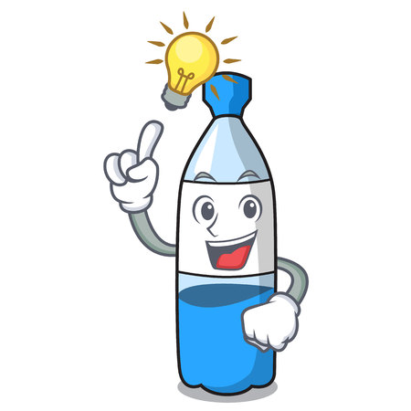 Have an idea water bottle mascot cartoon vector illustration