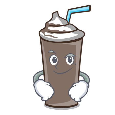 Smirking ice chocolate character cartoon vector illustration Иллюстрация