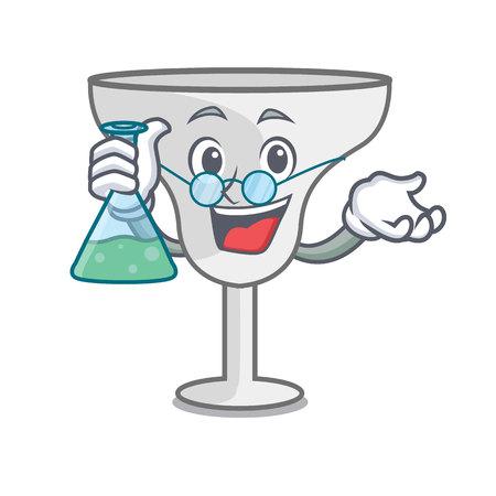 Professor margarita glass character cartoon vector illustration Illustration