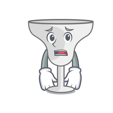 Afraid margarita glass mascot cartoon vector illustration Illustration