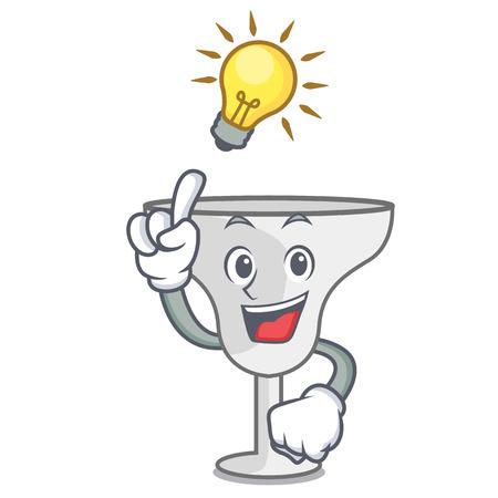 Have an idea margarita glass mascot cartoon vector illustration