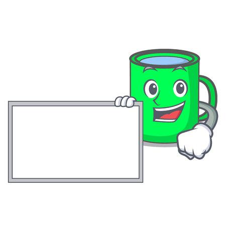 Bring board mug character cartoon style vector illustration Illustration