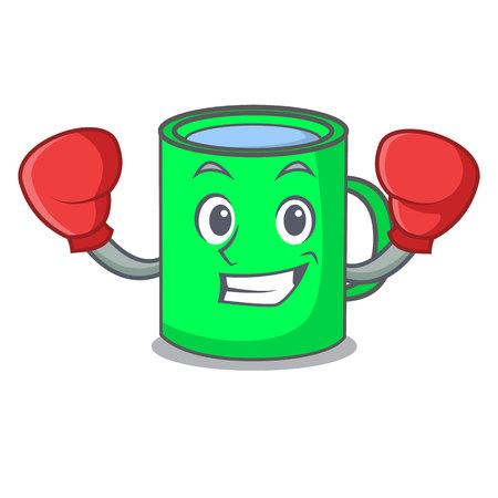 Boxing mug character cartoon style vector illustration