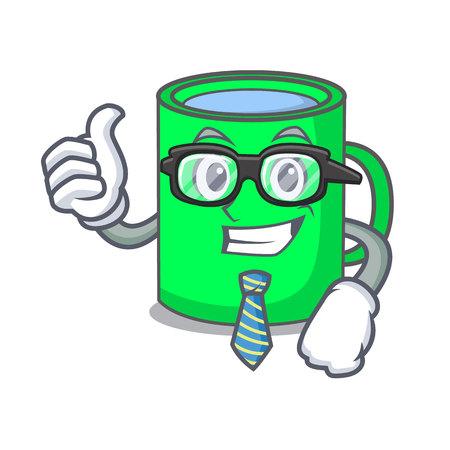 Businessman mug character cartoon style vector illustration