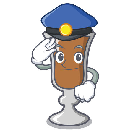 Police irish coffee character cartoon vector illustration