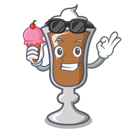 With ice cream irish coffee character cartoon vector illustration