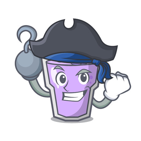 Pirate berry smoothie character cartoon