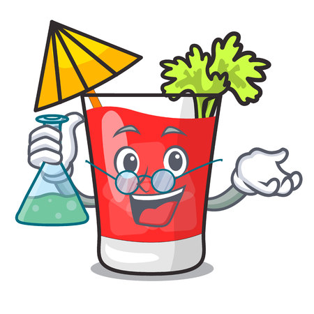 Professor bloody mary character cartoon vector illustration 向量圖像