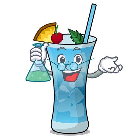 Professor blue hawaii character cartoon vector illustration