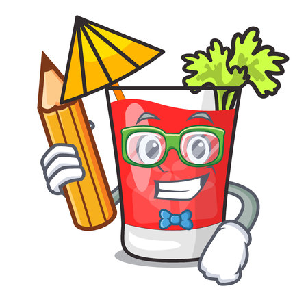 Student bloody mary character cartoon vector illustration
