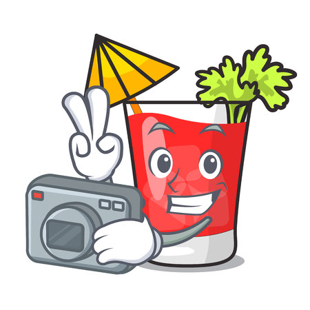 Photographer bloody mary mascot cartoon vector illustration Ilustração