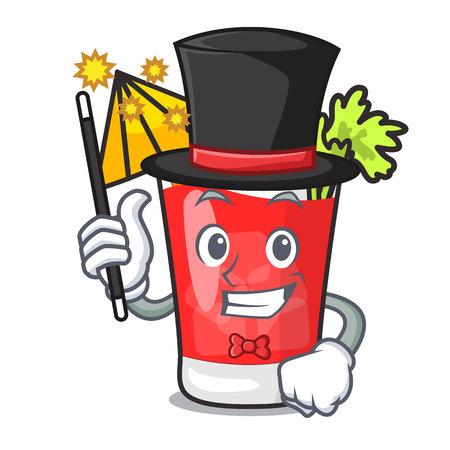 Magician bloody mary mascot cartoon vector illustration