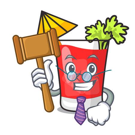 Judge bloody mary mascot cartoon vector illustration