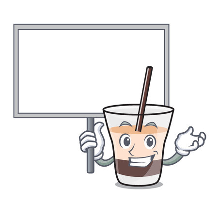 With board white russian character cartoon vector illustration
