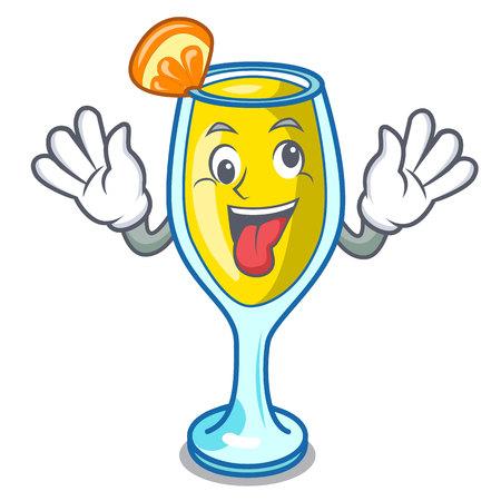 Crazy mimosa mascot cartoon style vector illustration