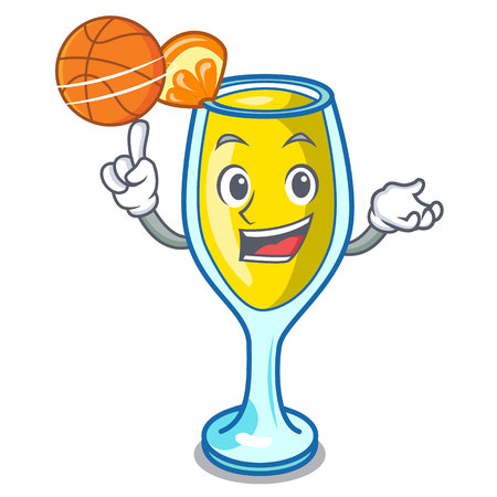 With basketball mimosa character cartoon style vector illustration 스톡 콘텐츠
