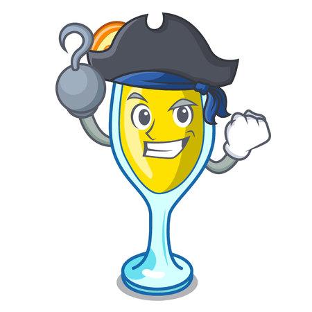 Pirate mimosa character cartoon style vector illustration