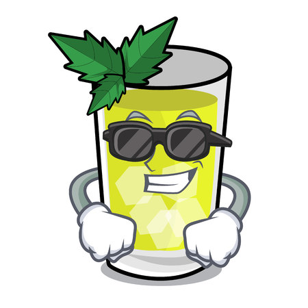 Super cool mint julep character cartoon vector ilustration