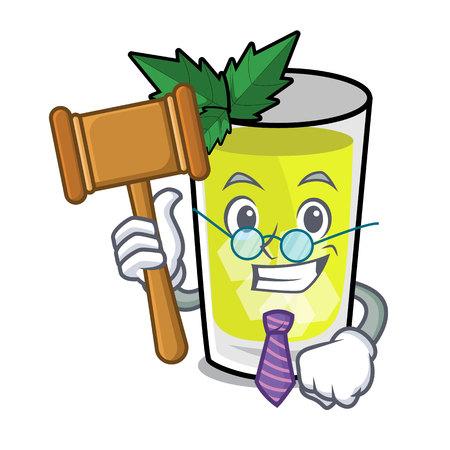 Judge mint julep mascot cartoon vector ilustration