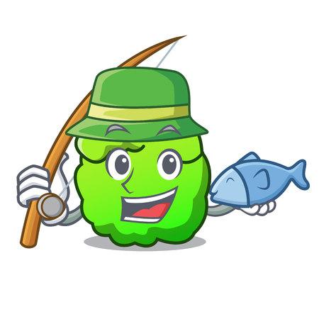 Fishing shrub mascot cartoon style vector illustration Illustration