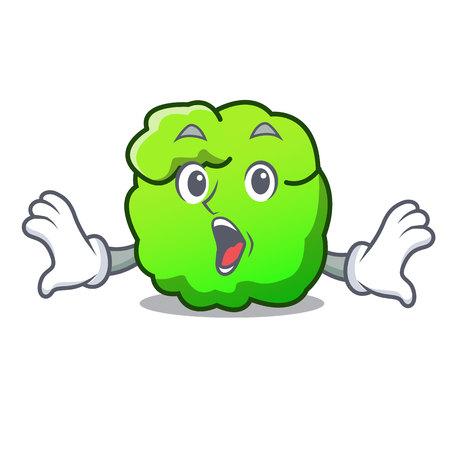 Surprised shrub mascot cartoon style vector illustration Illustration