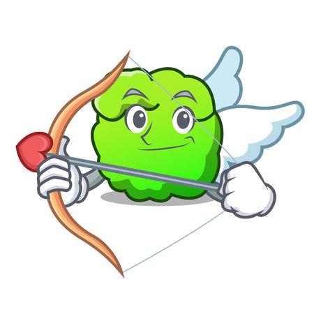 Cupid shrub character cartoon style vector illustration