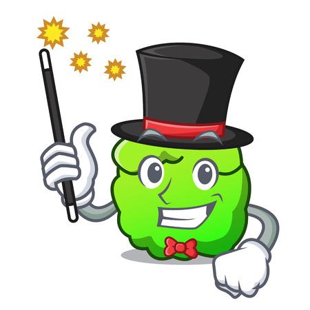 Magician shrub mascot cartoon style vector illustration Illustration