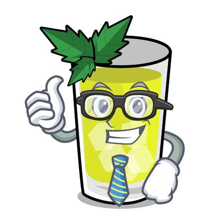 Businessman mint julep character cartoon