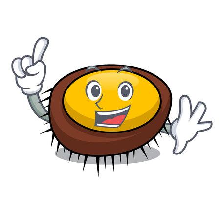 Dibujos animados de mascota de erizo de mar dedo