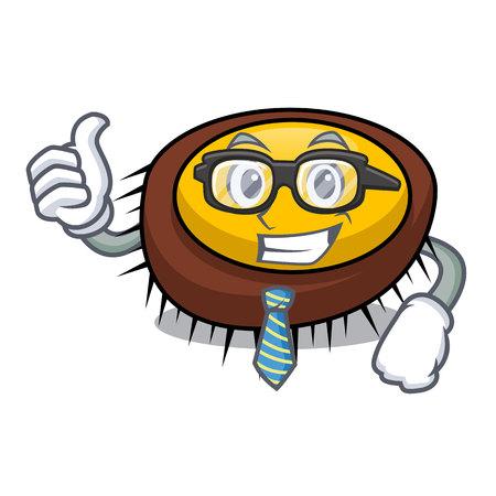 Businessman sea urchin character cartoon