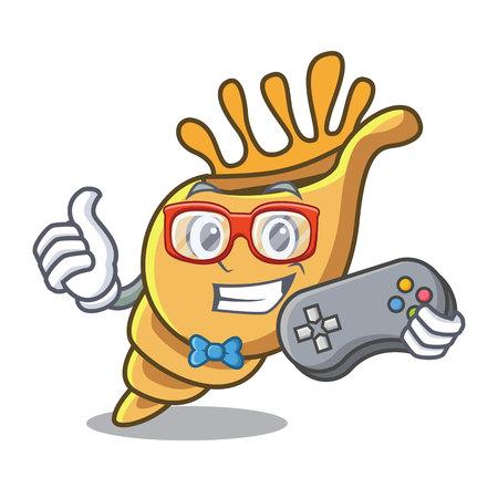 Gamer exotic shell mascot cartoon