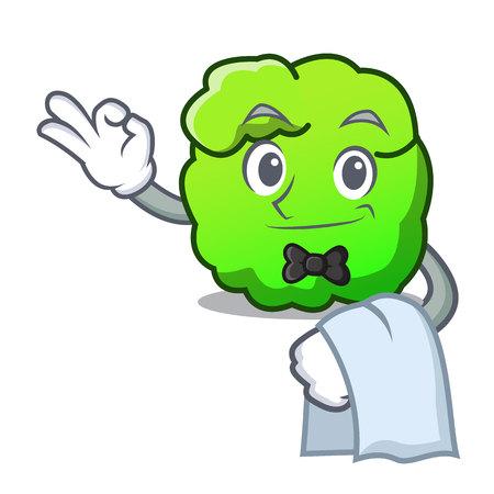 Waiter shrub mascot cartoon style vector illustration