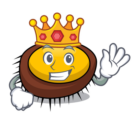 King sea urchin mascot cartoon vector illustration