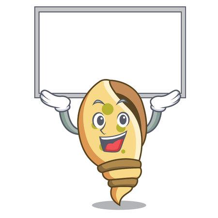 Up board sea shell character cartoon vector illustration