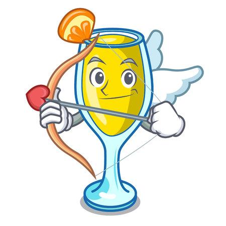 Cupid mimosa character cartoon style vector illustration