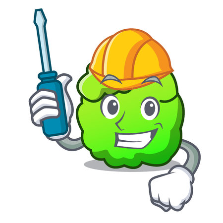 Automotive shrub mascot cartoon style vector illustration Illustration
