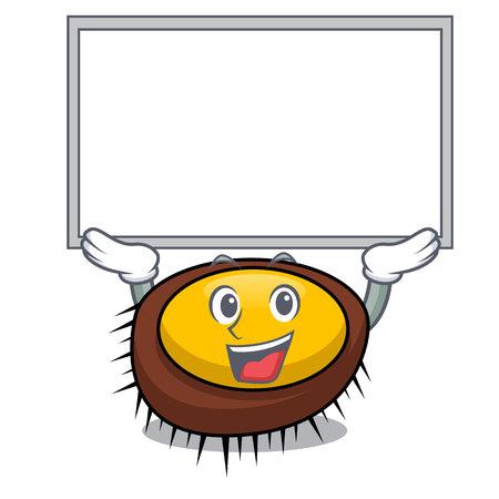 Up board sea urchin character cartoon vector illustration