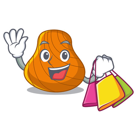 Shopping hard shell character cartoon vector illustration