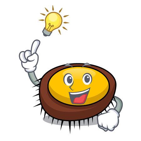 Have an idea sea urchin mascot cartoon