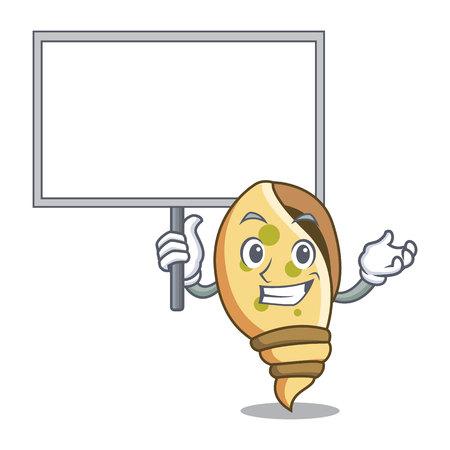 Bring board sea shell character cartoon vector illustration Иллюстрация