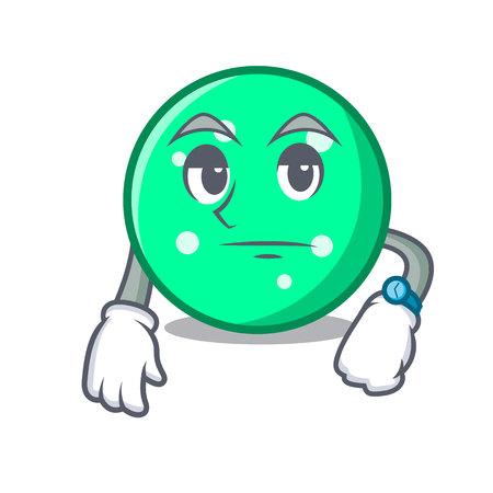 Waiting circle mascot cartoon style vector illustration