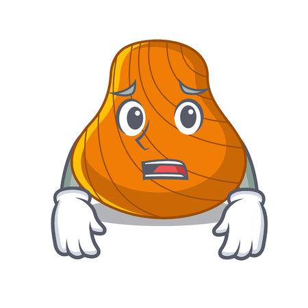 Afraid hard shell mascot cartoon vector illustration