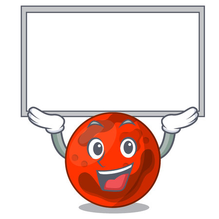 Up board mars planet character cartoon vector illustration Ilustrace