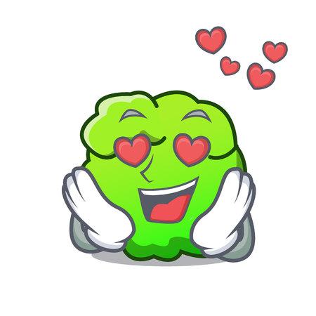 In love shrub mascot cartoon style vector illustration Illustration