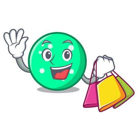 Shopping circle character cartoon style vector illustration Imagens - 104970691