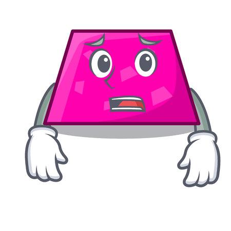 Afraid trapezoid mascot cartoon style vector illustration