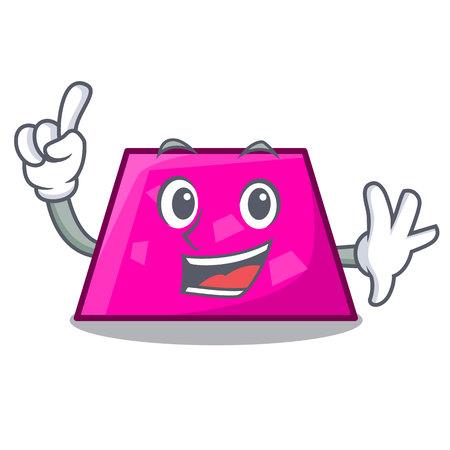 Finger trapezoid mascot cartoon style vector illustration Illustration